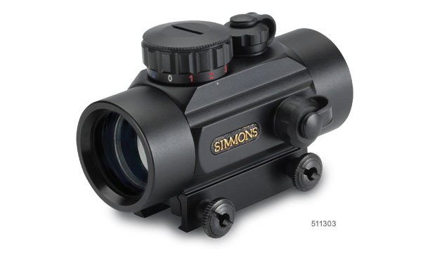 simmons red dot scope. 511305 red dot riflescope. product photo simmons scope